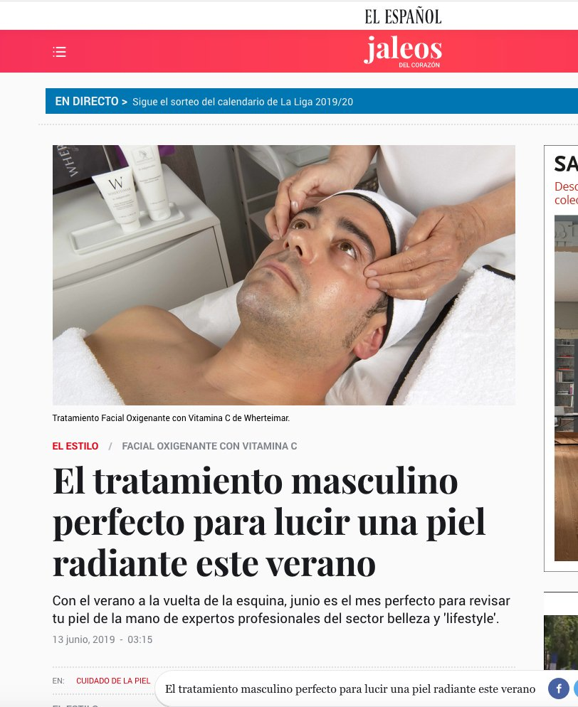 El Español: El tratamiento masculino perfecto para lucir una piel radiante este verano
