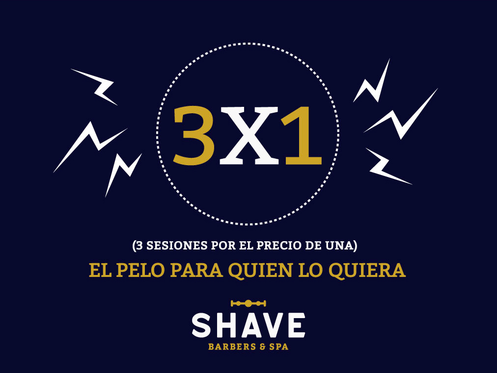 Promocion 3x1 en The Shave Club