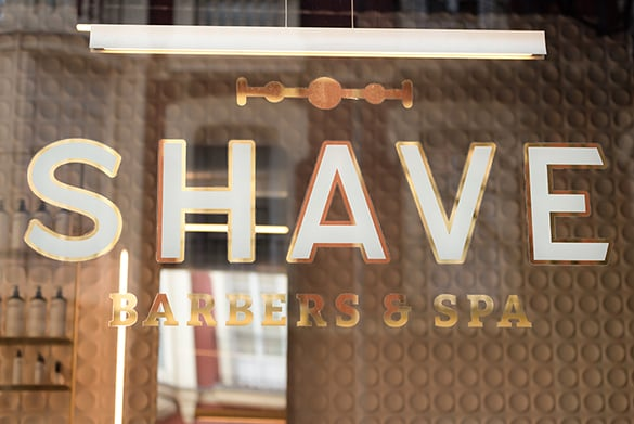 Escaparate The Ssahve Club Barbers & Spa Madrid